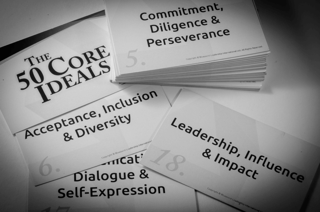 A deck of cards to help identify your values